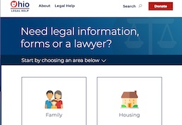 Ohio Legal Help - need legal information, forms or a lawyer?
